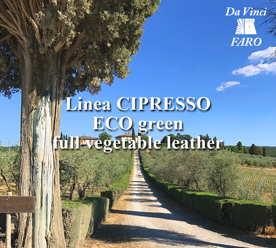 Linea CIPRESSO ECO green full vegetable leather